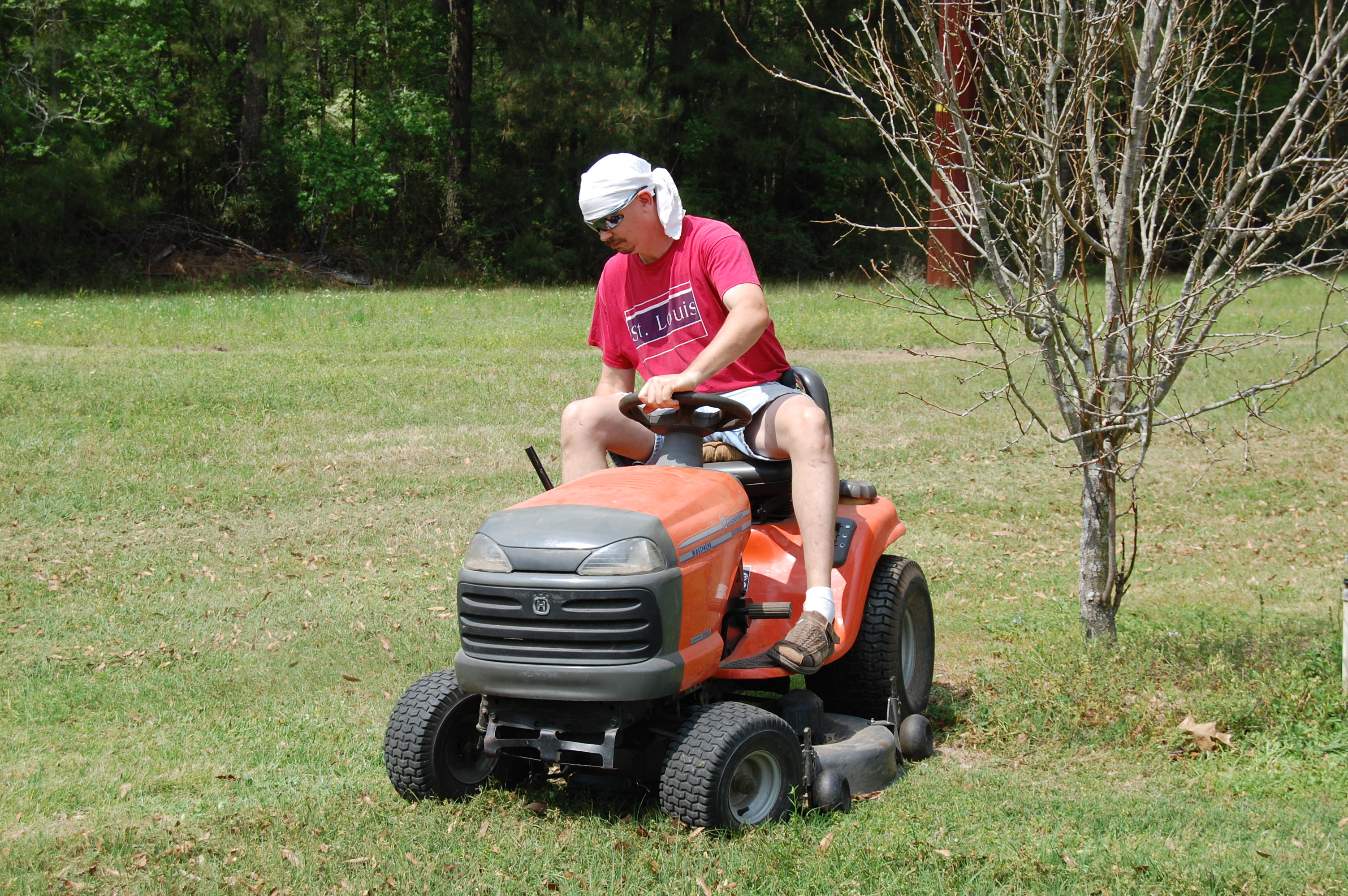 Terry on Mower