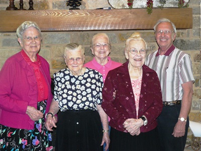 Residents with Bernard Blomker
