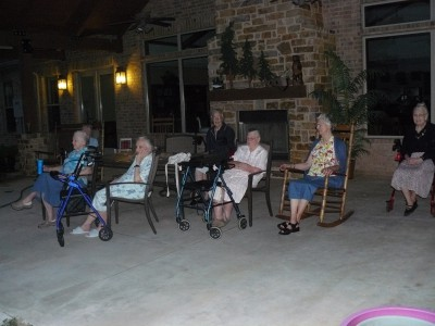 Residents watching fireworks