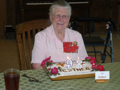 Esther turns 98