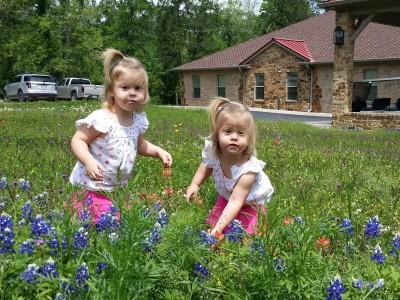 Twins in flowers 2014