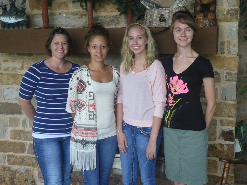 Jennifer, Andrea, Macy, Salena