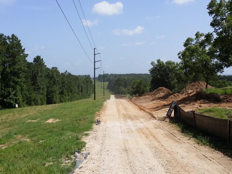 Mill driveway under powerlines