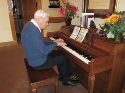 Elton at piano