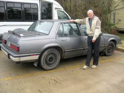 Elton with his old car