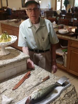 John with fish