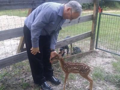 LeRoy with Bambi