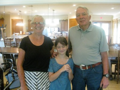 Carol and Mike Martin with granddaughter Kayden