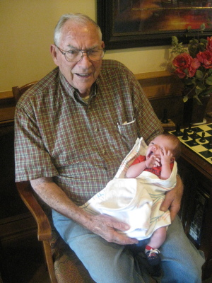 Jack with great-grandson Dylan